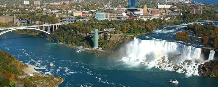 Niagara falls with niagara bridge jpg