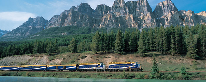 Rocky Mountaineer - Castle Mountain, Canada